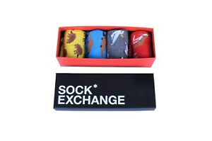 Unisex Bright Socks Sox Novelty Stance RED Funky Party Casual Formal Gift Box