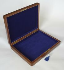 Solid Walnut & Brass Desk / Collector's Box- Ideal for Netbook, Tablet