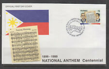 Philippine Stamps 1999 National Anthem Centennial Complete on FDC