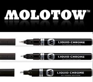 MOLOTOW LIQUID CHROME Pump Marker Einzelstifte / Sets 1, 2, 4, 5mm *!bestprice!*