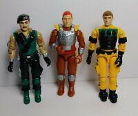 Vintage Hasbro GI Joe Action Figure Lot 3 Figures CHARBROIL LIGHTFOOT DIAL TONE