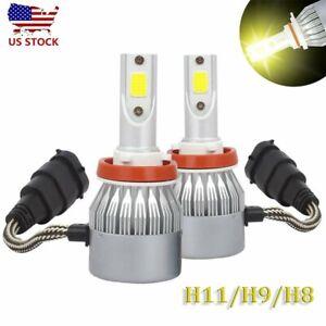 2x H11 H8 H9 Yellow 3000K LED Headlight Bulb Hi/Lo Beam Kit 30000LM 200W FogLamp
