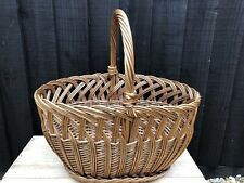 Lovely Vintage Retro Wicker Shopping Basket, Garden, Shop Display Prop