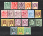 MALAYA STRAITS SETTLEMENT 1906-1912  KEVII COMPLETE SET TO $5.00 MLH STAMPS