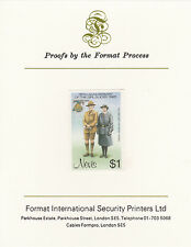 Nevis 3346 - 1985 GIRL GUIDES $1 on FORMAT  INTERNATIONAL  PROOF  CARD