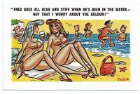 Vintage 1960's Comic Saucy Postcard SUNNY PEDRO No 150 Seaside Humour 181B