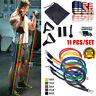 11 Pieces Resistance Trainer Set Exercise Fitness Tube Gym Workout Bands US