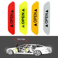 4x Car Door Open Sticker Reflective Tape Safety Warning Auto Decal Door Sticker