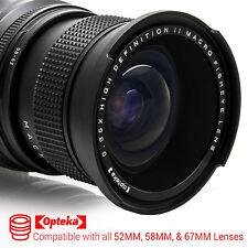 Opteka 52MM 58MM 67MM 0.35x HD Wide Angle Panoramic Fisheye Macro Lens for Nikon