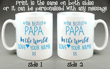 BESTEST PAPA IN THE WORLD MUG CUP - PERSONALISED FATHER'S DAY BIRTHDAY GIFT