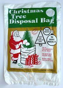 """Vintage 1988 Christmas Tree Disposal Bag 90"""" x 144"""", Collectible"""