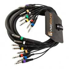 """8-Way 3m 6.35mm 1/4"""" Stereo Jack / Balanced Jack Loom / Patch Multicore Cable"""
