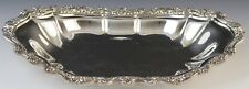 VTG Countess International Silver Company Rose Bordered Vegetable Serving Tray