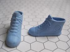 Vintage Barbie Mattel Blue High Top Tennis Shoes B Converse Style Chucks Squishy