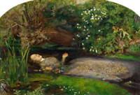 John Everett Millais Ophelia Poster Reproduction Paintings Giclee Canvas Print