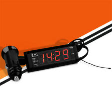 3in1 12V/24V Car Digital Clock, Temperature Thermometer, Voltage Meter Voltmeter