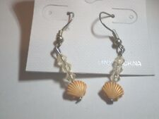 Orange Shell Earrings - 183-36