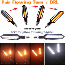 4X Front DRL Rear Tailight Flasher Strobe Dual colors DRL Brake Flowing Lights