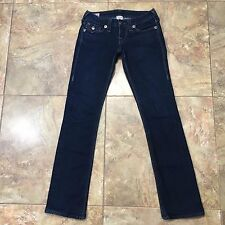 TRUE RELIGION Billy Big QT Black Jack Thick Stitch Flap Pocket Jeans Size 26x31
