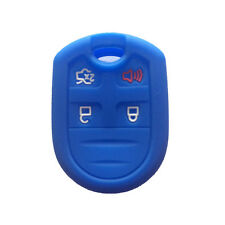 Navy Blue 4 Buttons Silicone Key Jacket Smart Skin Cover Protector fit for Ford