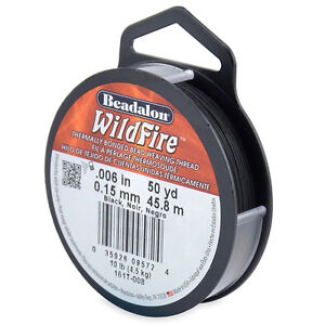 Beadalon Wildfire Beading Thread Frost or Black .006 in (.15 mm), 50 yd (45m)