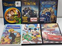 Kids DVD Lot Of 6 MOVIES FOR BOYS NIGHT OR FAMILY NIGHT