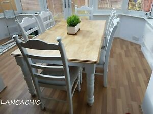 Stunning Shabby Chic -  6ft x 3ft - Farmhouse Table  and chairs