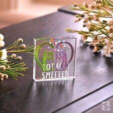 Spaceform Miniature Glass Token Totally Smitten Kitten Love Heart Xmas Gift 1908