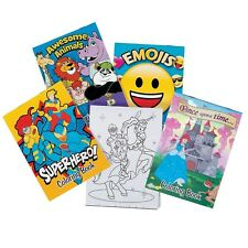 KIDS PARTY SUPPLIES FAVOURS PRIZES 12 ASSORTED COLOURING BOOKS COLOUR PADS