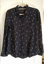 821d5188dedeb0 NWT Rails Kate Cactus Print Shirt Size S Black White Button-up Blouse Top