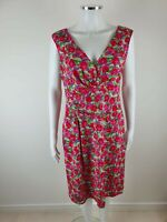PHASE EIGHT Green Pink Floral Party Evening Occasion With Stretch Dress Size 16