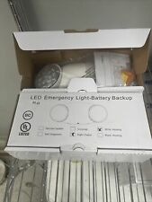 Led Two Head Emergency Light With Battery Back Up White