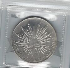 **1896 MoAM**Mexico 8 Reales, Coin Mart Graded **AU**