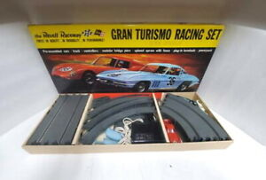 1964 REVELL RACEWAY GRAN TURISMO SLOT CAR RACING SET WITH EXTRA ACCESSORIES