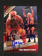 HULK HOGAN & RIC FLAIR 2010 TRISTAR TNA WRESTLING SIGNED AUTOGRAPHED CARD SGC