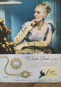 1947 Coro Corocrafr diadem jewels Vintage necklace earrings jewelry ad