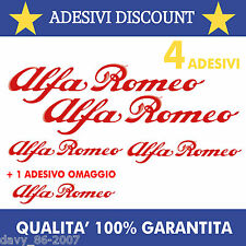 SET ADESIVI ALFA ROMEO PINZE STICKER FRENI 147 GT GTA