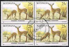 Botswana 1987. Animals. Steenbok. 25t. Block of 4. Used.