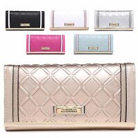 Ladies Designer Embossed Faux Leather Purse Wallet Clutch Handbag 601-291