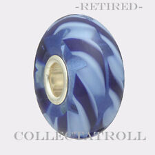 Authentic Troll bead Clear Blue Braid *RETIRED*  61152  TGLBE-10280