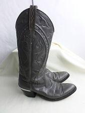 """Dan Post""Women Grey Cowboy Leather Boots w/Heel Rands-6 C,made in Spain"