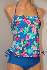 NWT Hula Honey Swimsuit Bikini one 1pc Sz XS Bandeau Halter Strap Multi
