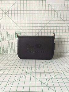 NWT Coach F72703 JES Messenger Signature Logo Black Leather Crossbody Bag