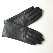 Vintage Style 1960s 1970s Black Leather Driving Gloves Mod Size S/M
