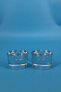 Crystal Clear Candle Holders Set Of 2 Signed Candlestick