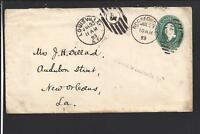 "ROCKFORD,ILLINOIS 1893 COVER, AUXILLARY ""MISSENT TO LOUISVILLE KY"""