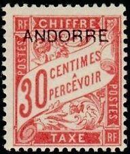 "ANDORRE FRANCAIS STAMP TIMBRE TAXE N° 3 "" TIMBRE DE 1893 30c "" NEUF x TB"