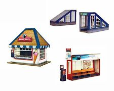 O gauge(7mm) 1:43scale Model Railway ICE-CREAM STALL+BUS STOP & SUBWAY ENT Kits