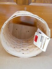 Nwt Longaberger Woven Tall Round Wall Cubby Washed Maple 2017