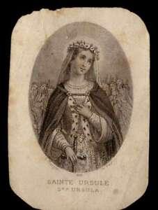 ST URSULA Antique SMALL HOLY CARD